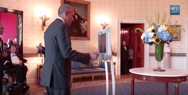 J'ai beamé avec Barack Obama