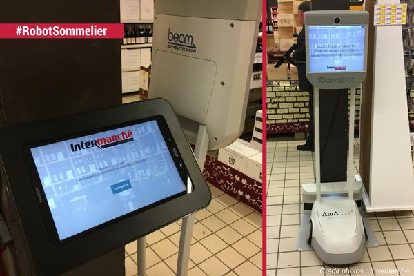 Conseil à la demande en magasion : le Robot Sommelier Intermarché