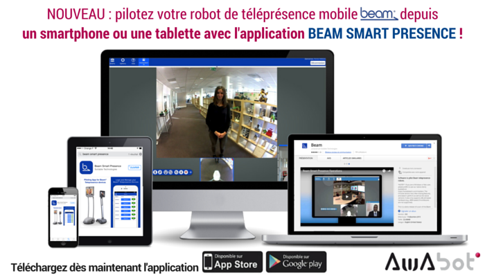 NOUVEAU : l'application de pilotage BEAM maintenant disponible sur tablette & smartphone (iOS & Androïd)