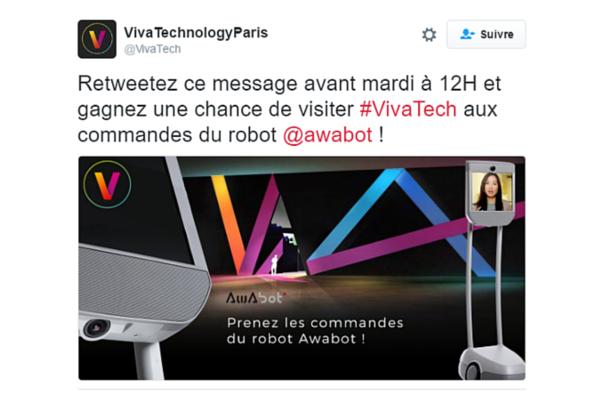 Awabot : participer à Viva Technology via le robot de téléprésence mobile