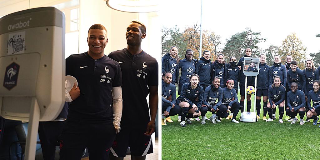 Téléprésence : Jonas et Nell-Isambre voient la vie en bleu grâce à la Fédération Française de Football et l'AFM-Téléthon